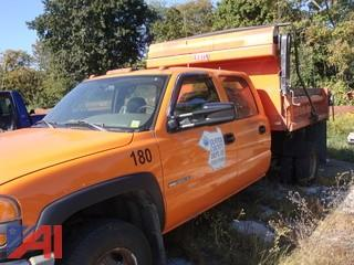 (1800) 2005 GMC Sierra 3500 Pickup Truck with Dump Body