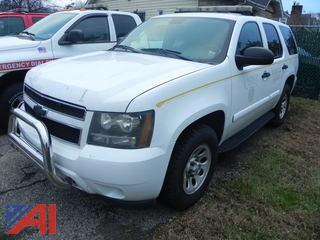 2009 Chevy Tahoe SUV/Police Emergency Vehicle