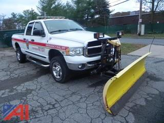 *Updated* 2005 Dodge Ram 2500 Quad Cab Pickup Truck/Emergency Vehicle with Plow