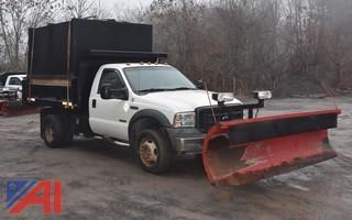 2006 Ford F550 Dump w/ Plow