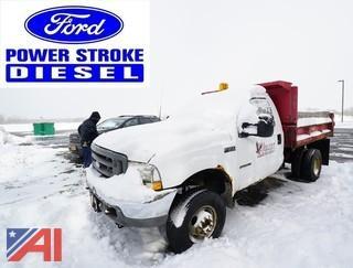 2002 Ford F350 XL SD 4x4 1 Ton Dump Truck