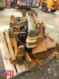 Pallet of Various Plow Hitches