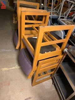(18) Library Wooden Chairs