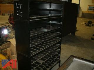 Shelf Unit with Plastic Bins