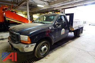1999 Ford F350 SD 12' Flatbed Truck