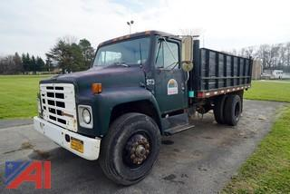 1987 International 14' Dumping Flatbed Truck