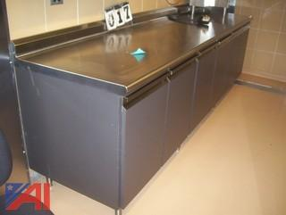 Stainless Counter with Cabinets