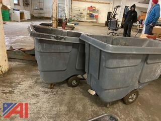(2) Industrial Dump Hoppers