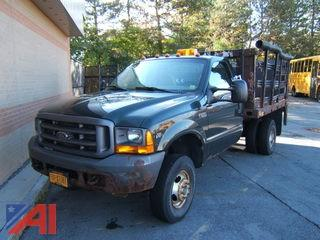 2001 Ford F350 XL Super Duty Stake Rack Truck with Lift Gate