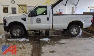 2010 Ford F250 XL Super Duty Pickup Truck & Plow