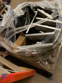 "Pallet of 20"" Dell Monitors and Keyboards"