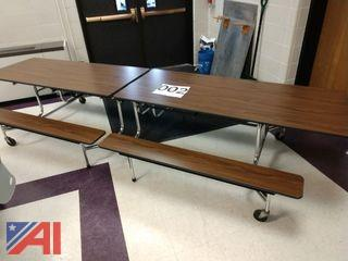Folding High School Cafeteria Tables