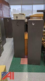 Various Filing Cabinets & HP LaserJet 4050 Printer