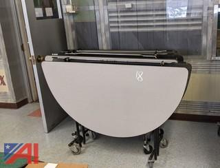 Folding Round Cafeteria Tables