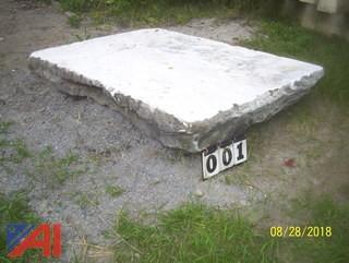 Slab of Vermont White Marble