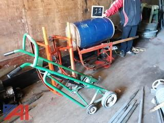 55 Gallon Drum Stands & Dolly