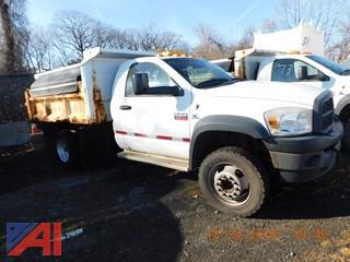(734) 2008 Dodge Ram 4500HD Dump Truck with Salter