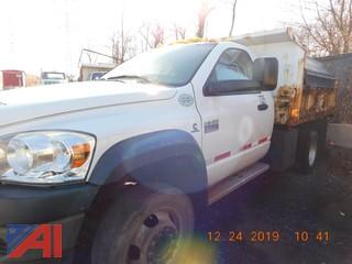 (735) 2008 Dodge Ram 4500HD Dump Truck with Salter