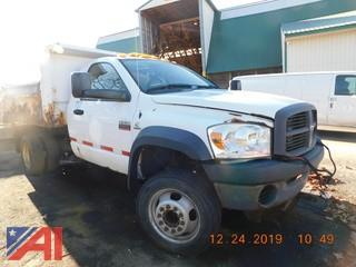 (737) 2008 Dodge Ram 4500HD Dump Truck with Salter
