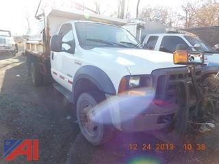 (740) 2008 Ford F450 Super Duty Dump Truck with Salter