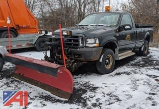 2004 Ford F250 XL Super Duty Pickup Truck & Plow