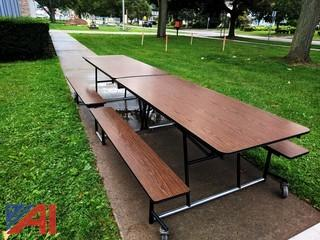 Roll & Fold 12' Cafeteria Tables