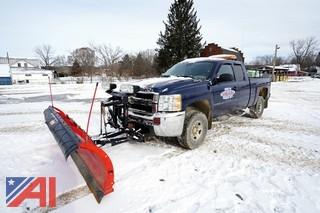 2009 Chevy Silverado 2500 HD 3/4 Ton Extended Cab Pickup Truck with Plow