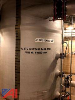 Fiberglass Waste Backwash Tank