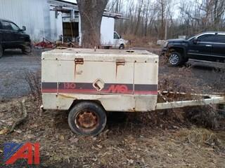 1996 Multi-quip 130 Air Compressor on Trailer