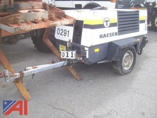 2001 Kaeser M52 Air Compressor on Trailer