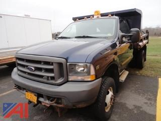 2004 Ford F350 XL Super Duty Dump Truck with Spreader