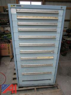 Vidmar 11 Drawer Tool/Parts Cabinet with Misc. Contents