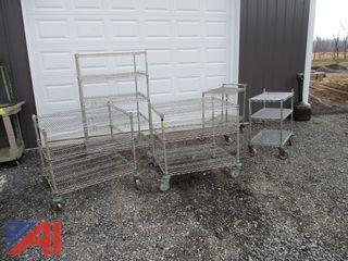 Metro Rolling Wire Racks/Carts