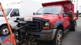 2007 Ford F550 Dump Truck & Plow