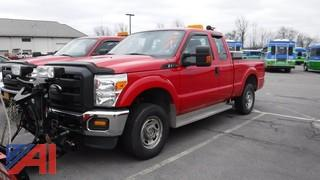 2013 Ford F250 XLT Super Duty Pickup Truck with Plow