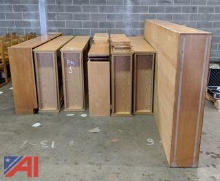Wood Bookshelves & Metal Desk
