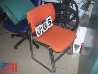 Orange Stackable Chairs