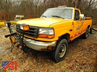 (#5) 1996 Ford F250 XL Pickup Truck with Plow