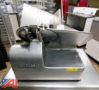 Hobart #1712E Automatic Meat Slicer with Stand