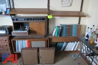 General Electric Wall Stereo Unit with Speakers