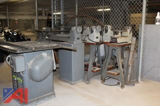 "Delta 10"" UniSaw and Rockwell Lathes"