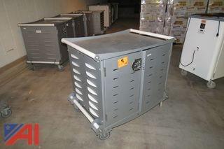 (40) Steel Computer Carts