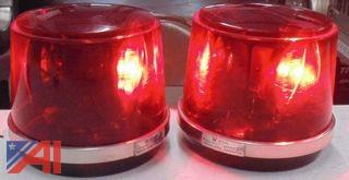 "8"" Red Plastic Dome Lights"