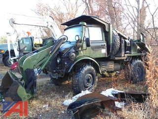 1988 Freightliner FLU419 Military Truck with Front Loader & Backhoe