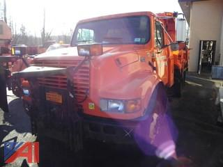 2002 International 4700 Dump Truck with Plow
