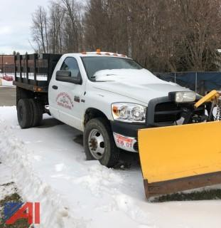 2007 Dodge Ram 3500 Stake Truck with Plow