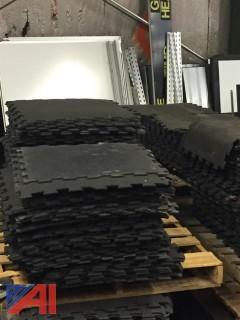 Large Lot of Interlocking Rubber Flooring