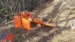 Tow-Behind Grading Rake for a Tractor