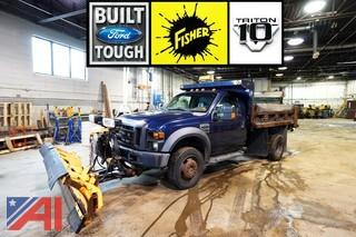 2009 Ford F450 XL Super Duty Dump Truck with Plow/114
