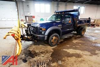 2008 Ford F450 XL Super Duty Dump Truck with Plow/123